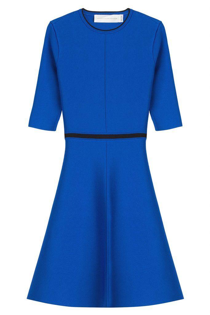 #Victoria, #Victoria #Beckham #Flared, #Dress mit #Cut, #Out #, #Blau für #Damen Leuchtendes Royalblau, Kontrastpaspeln und ein Cut > Out am Rücken: Das Flared > Dress von Victoria, Victoria Beckham brilliert mit moderner Eleganz  >  tragen wir tagsüber mit Espadrilles oder abends mit Stilettos  >  Royalblau, enger Rundhals, schwarze Paspelierung an Ausschnitt und Taille, tonale Akzentnähte, Cut > Out am Rücken, halblange Ärmel  >  Schmal geschnitten, ausgestellt, dehnbar  >  Passt zu…