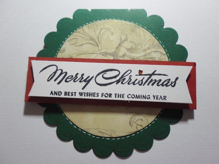FD Scrap: Tarjeta redonda Merry Chritsmas