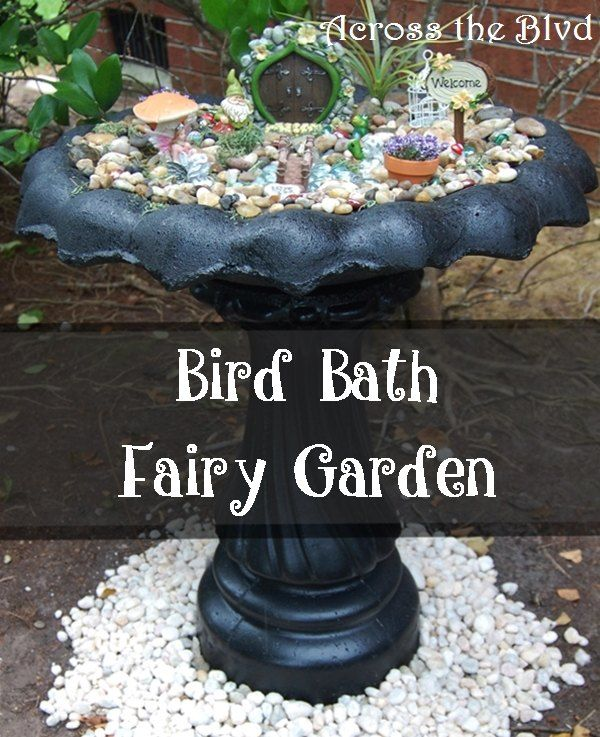 Repurposed Bird Bath - Do you have an old bird bath? I did and it wasn't doing anything to enhance my lawn. I repurposed it as a whimsical lawn decor piece. #bi