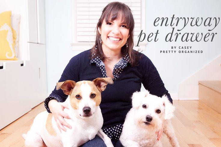 A Pretty Organized Doggy Drawer | Dog Organization | Pretty Fluffy