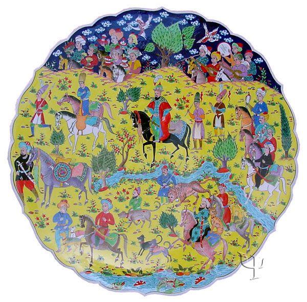 Iznik Design Ceramic Plate - Ottoman Miniature