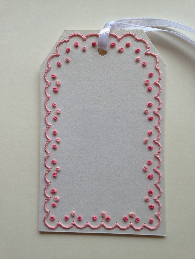 Embroidered Gift Tag