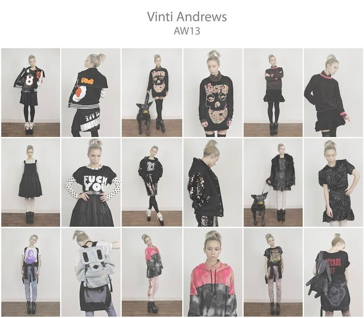 GREGORY KARA - LOOKBOOK FOR VINTI ANDREWS AW13