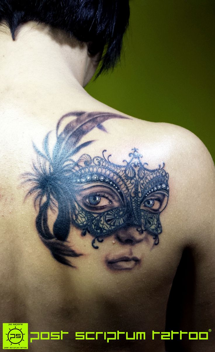 Lace tattoo, mask tattoo                                                                                                                                                                                 More