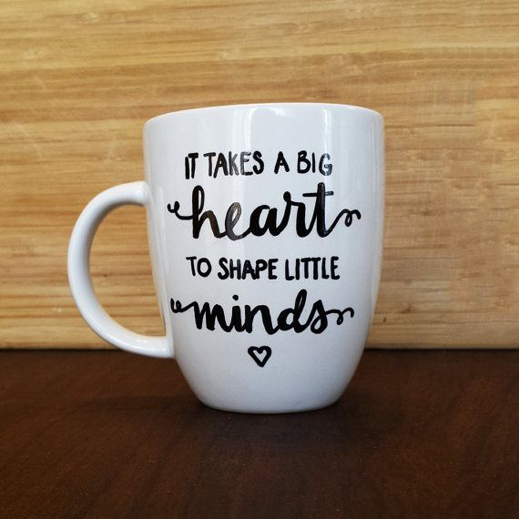 We love teachers! Show the teachers in your life some appreciation with a lovely mug. This 14 oz porcelain mug is hand lettered for each individual order.  14 oz Porcelain Handwashing recommended Not exactly what you are looking for? Feel free to contact this shop with custom orders of any kind