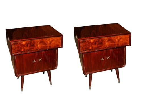 Pair Of Bedside Cabinets Circa 1950s