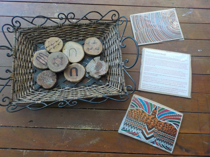 Indigenous symbols and art along with the the story of Bunjil, the wedge tail eagle and creator deity of the Kulin Nation. Surrounding children with indigenous culture from an early age gives children a wider knowledge of the world in which they live. - Gowrie Victoria