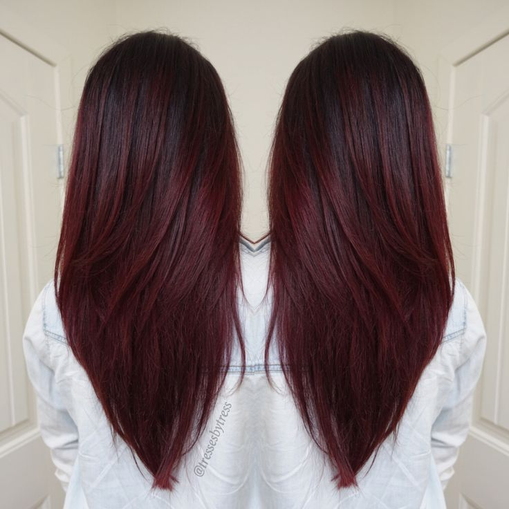 Best 25 dark red hair ideas on pinterest dark red balayage red dark red violet plum balayage when my hair gets linger pmusecretfo Choice Image