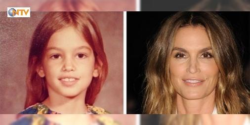Süper modellerin çocukluk halleri: Dünyanın en ünlü modelleri bir zamanlar nasıldı? İşte Cindy Crowforddan Kate Mossa Irina Shayktan Gigi Hadide ünlü modellerin çocukluk fotoğrafları...