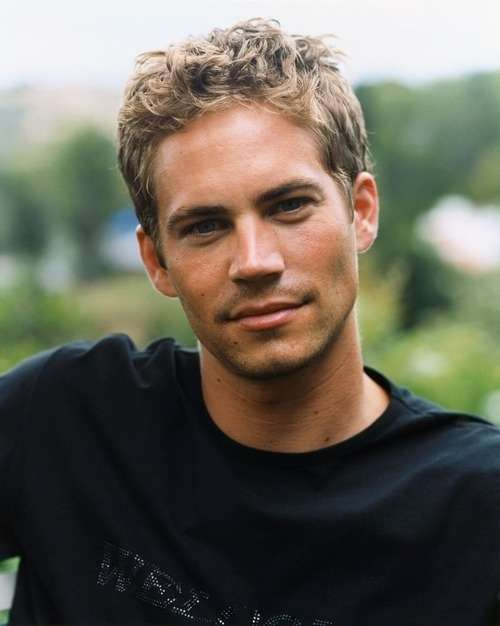 Young Paul Walker in Black Fitted T-Shirt