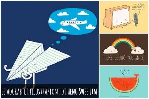 Le adorabili illustrazioni di Heng Swee Lim