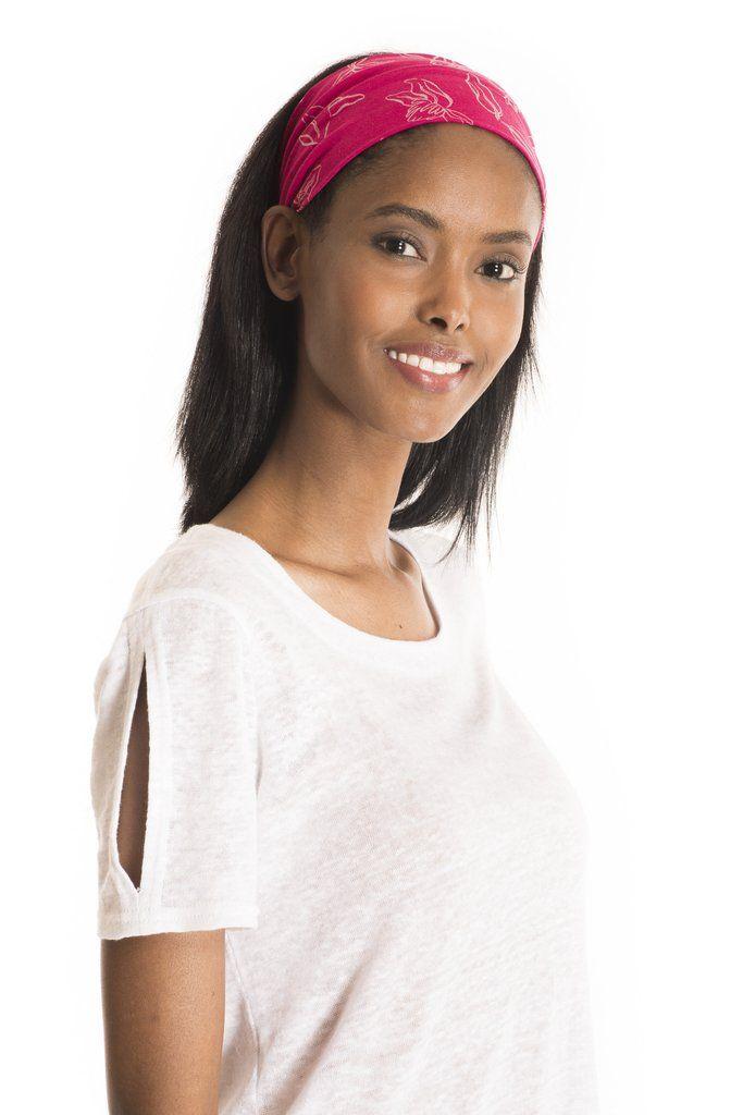 46ce1f245dce16 The Liponema Headband Print - women's spring summer fashion fuchsia pink bamboo  jersey headband