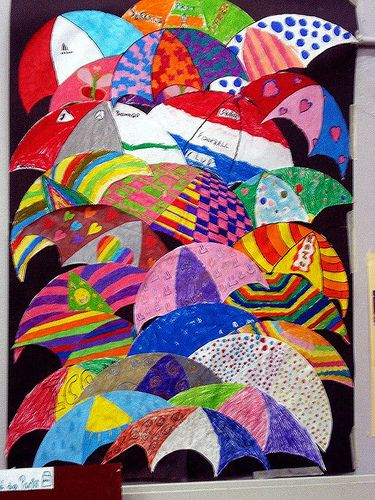 Umbrellas by Renoir created by 10 year olds » Classroom Displays