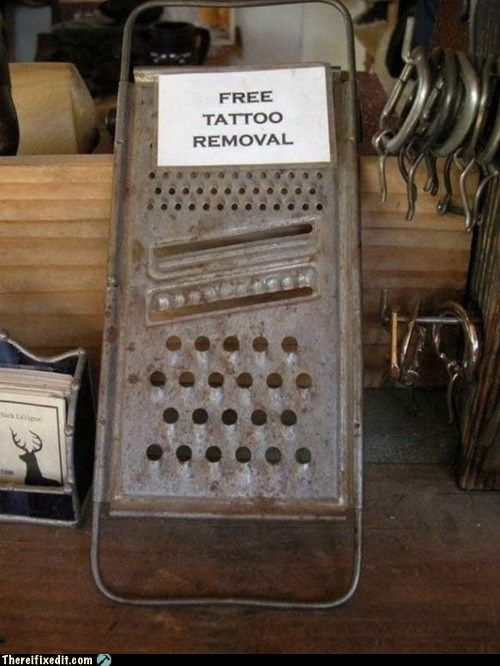 Free Tattoo Removal- great party gag idea! Redneck - White Trash Bash: It's an excuse to BBQ with friends and get a lil' bit country! My Big Day Events, Colorado Weddings, Parties, Showers, Business & Corporate Events & More! Loveland, Fort Collins, Windsor, Cheyenne, Mountains. http://www.mybigdaycompany.com #tattoo #whitetrash #redneck