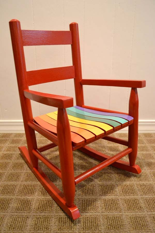 High Quality Kid Size Rainbow Rocking Chair