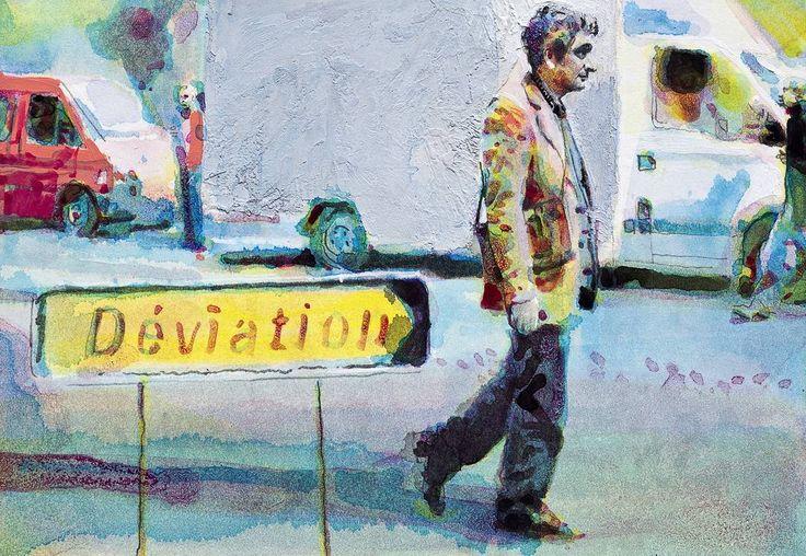 Path 2 Home from the series diaries  21x15cm #aquarelle on paper #kpils  #contemporaryart #artecontemporáneo #zeitgenössischekunst #kunstwerk #samtidskunst #kunst #konst #artecontemporanea #watercolor Kenneth Pils