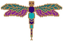 Dragonfly pattern that might translate to locker hook rug.
