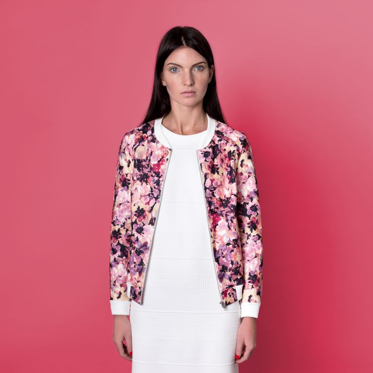 Cocoon Spring - Summer 2015 / Muss collection / Flower print pink bomber jacket.