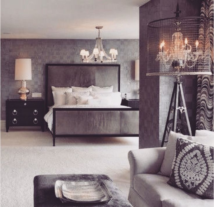 My dream bedroom and maybe a little exposed brick id be for Classy bedroom ideas