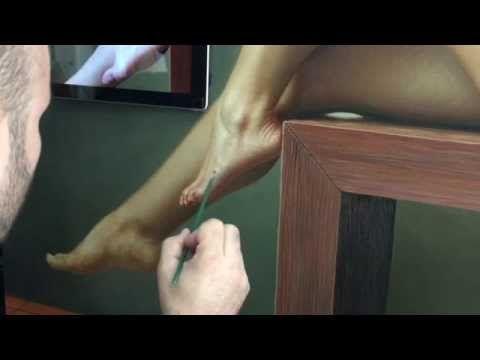 pintando un pie con comentarios de Omar Ortiz - YouTube
