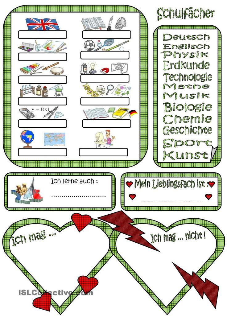 267 besten German-SCHULE Bilder auf Pinterest | Deutsch lernen ...