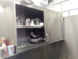 Stainless steel kitchen cupboards for sale. Used catering storage.   Click the link to see different cupboards all secondhand for sale in the UK.
