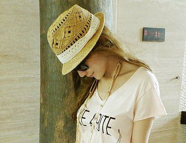 Casual Style Lace Embellished Openwork Straw Hat For Women (AS THE PICTURE,ONE SIZE) China Wholesale - Sammydress.com
