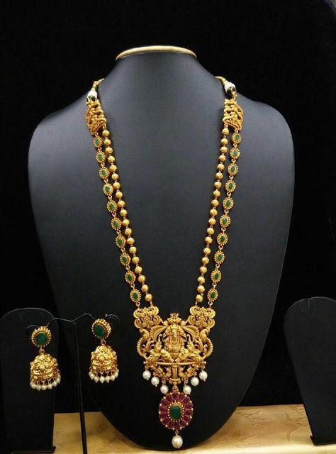 Ruby Emerald Long Neck sets | Buy online 1 gram jewellery