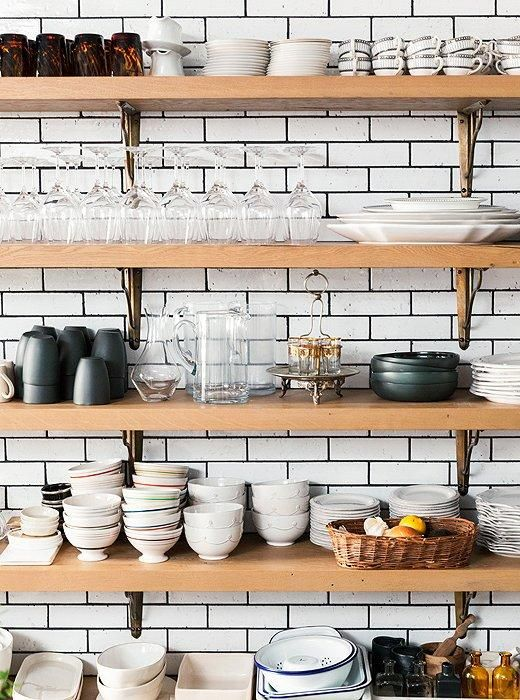 jordan retro 11 low whitegreynavy A perfect and totally dreamy example of open shelving in the kitchen