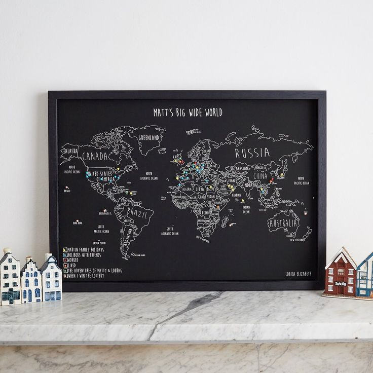 14 best personalised world maps images on pinterest travel cards personalised world pinboard map gumiabroncs Gallery