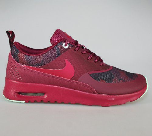 Nike Air Rouge Framboise Max Thea  / Gris Poussiéreux  / Yeux Verts