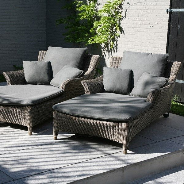 Linden Rattan Sun Lounger In 2020 Outdoor Furniture Sofa Gray Patio Furniture Sunbed
