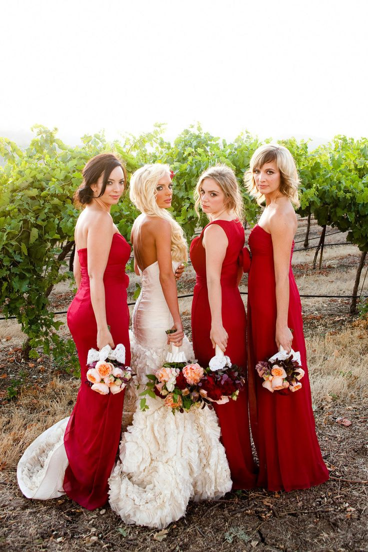 The 970 best images about bridesmaids party colour board on great bouquets wedding gown and shade of red ombrellifo Choice Image