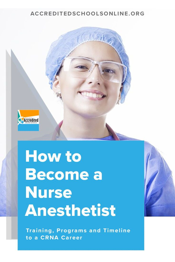 How To Become A Nurse Anesthetist Accredited Schools Online Find Top Rated Accredited Programs Online Nurse Anesthetist Nurse Anesthesia Nursing Career