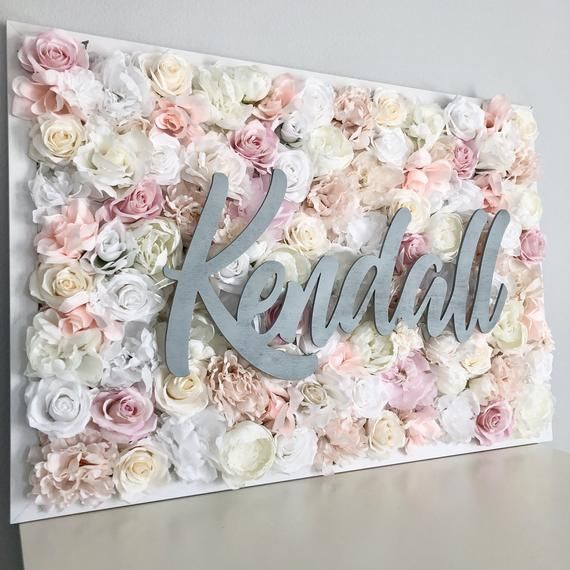 Girl Nursery Decor Flower Wall Nursery Flower Letter Floral Etsy Blush Nursery Decor Flower Wall Decor Nursery Decor Girl