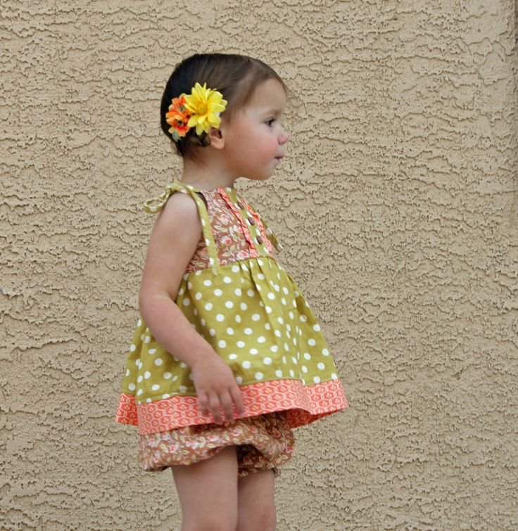 Girl's Picnic Apron Dress or Top clothes sewing tutorial PDF pattern for children babies toddlers. $6.99, via Etsy.