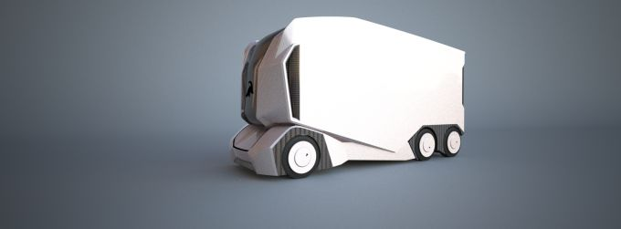 Einrides electric self-driving T-pod is a new kind of freight transport vehicle
