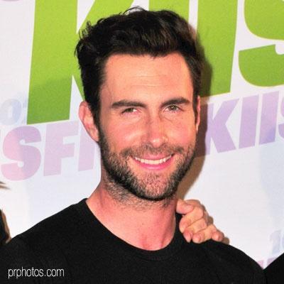 Adam Levine stubble look