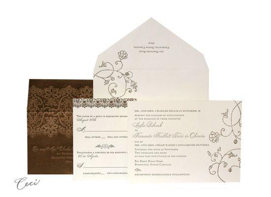 Clarity   Luxury Wedding Invitations   Ceci Ready To Order Collection    Ceci Wedding   Ceci New York