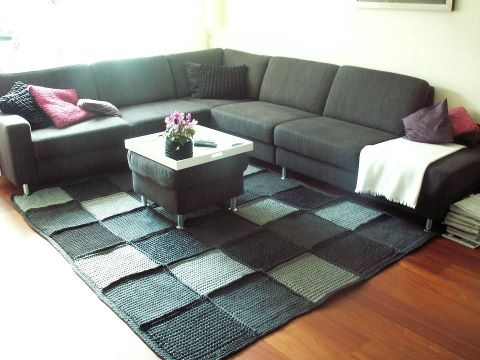 Zpagetti Crochet Rug - I love it.  Wish I could find the pattern for this rug.