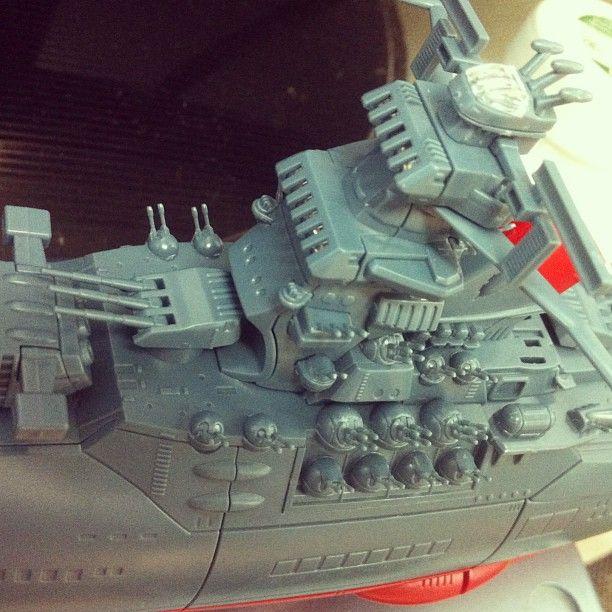 """수전증과 노안이 오기전에 만들어야 할 작품들이 줄을서 있구나. 벌써부터 이만한 크기는 너무 작아서 눈이 침침해진다.  Space battleship YAMATO  1/1000 SCALE from """"BANDAI"""""""