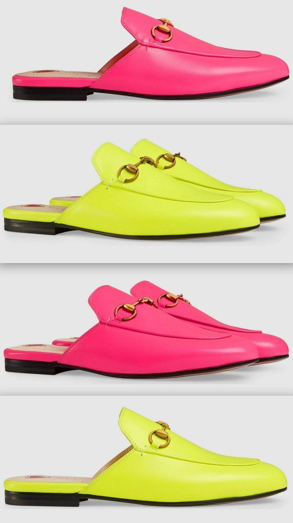 e033c04e19f Princetown Leather Slippers - Fluorescent Pink or Fluorescent Yellow ...