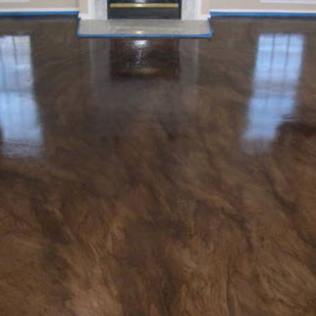 124 best images about flooring on pinterest stained for Stained polished concrete floor