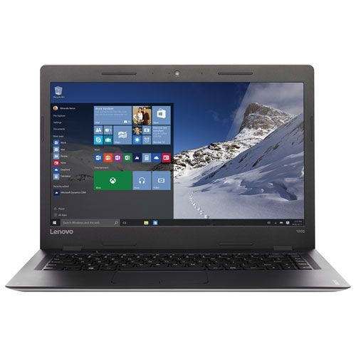 "Lenovo IdeaPad 100s 14"" Laptop - Black (Intel Celeron N3050/64GB eMMC Flash Memory/2GB RAM/MS Win 10) : Laptops - Best Buy Canada"