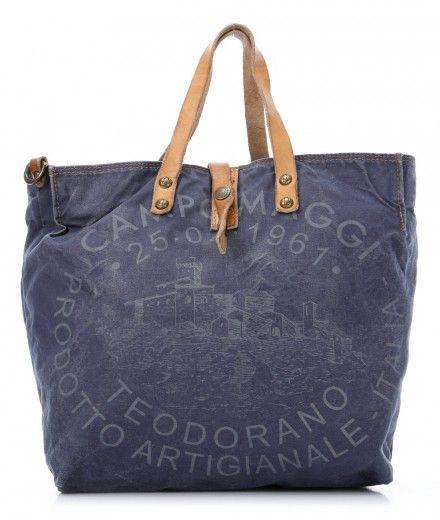 Campomaggi Lavaggio Stone Teodorano Handtasche dunkelblau