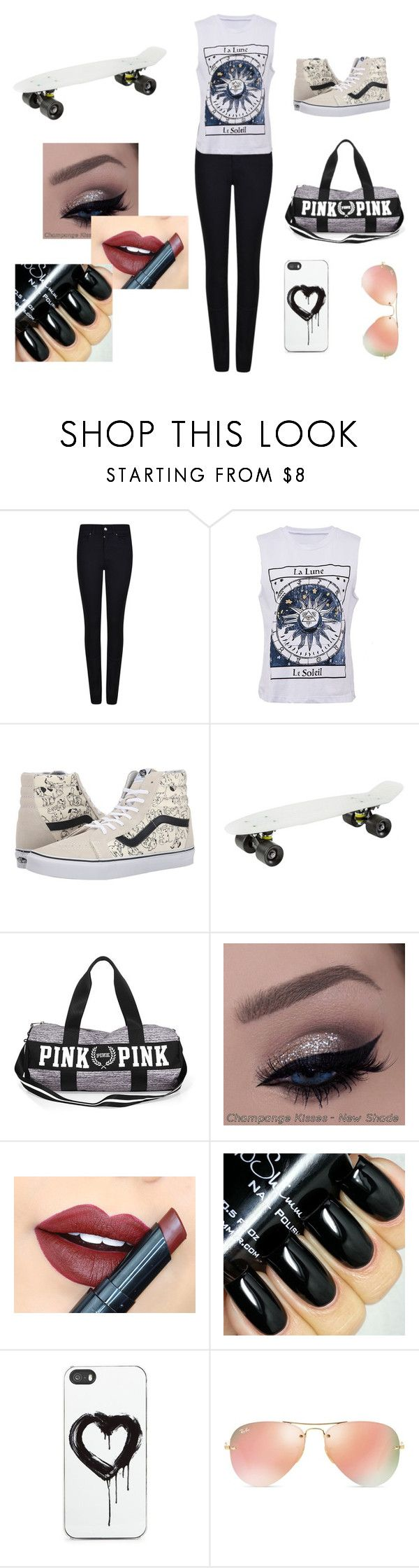 """Skate Girl"" by hazel2002 ❤ liked on Polyvore featuring Armani Jeans, Vans, Fiebiger, Zero Gravity, Ray-Ban, women's clothing, women, female, woman and misses"