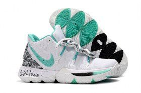 low priced 1672c b18aa Nike Kyrie 5 PE White Mint Green-Black Men s Basketball Shoes Irving  Sneakers