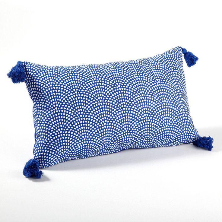 Coussin rectangle bleu Brume