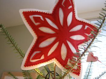 scandinavian style star tree topper
