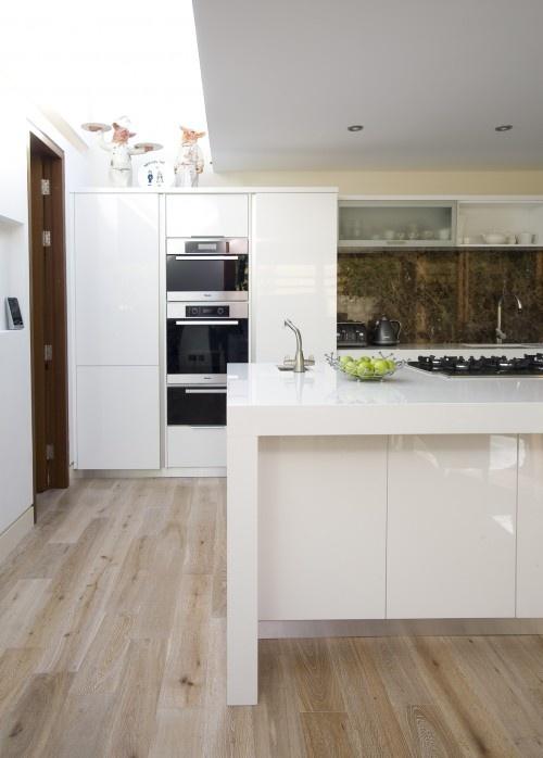 Bleached wood floors